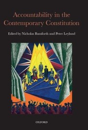 Cover of: Accountability In The Contemporary Constitution
