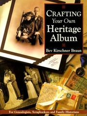 Cover of: Crafting your own heritage album