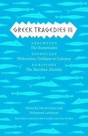 Cover of: Greek Tragedies 3 Aeschylus