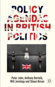 Cover of: CSPA POLICY AGENDA BRITISH