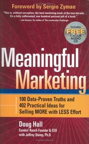 Cover of: Meaningful marketing