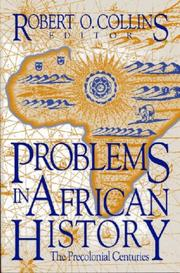 Cover of: Problems in African history