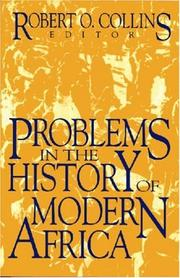 Cover of: Problems in the history of modern Africa