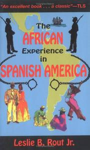 Cover of: The African Experience in Spanish America