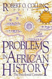 Cover of: Problems In African History: The Precolonial Centuries