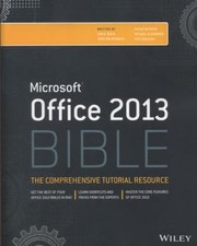 Cover of: Microsoft Office 2013 Bible