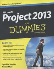 Cover of: Project 2013 For Dummies