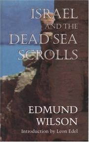 Cover of: Israel and the Dead Sea Scrolls
