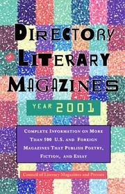 Cover of: Directory of Literary Magazines 2001 (Clmp Directory of Literary Magazines and Presses) | Council of Literary Magazines and Presses