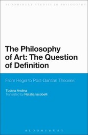 Cover of: The Philosophy of Art The Question of Definition