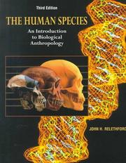 Cover of: The human species