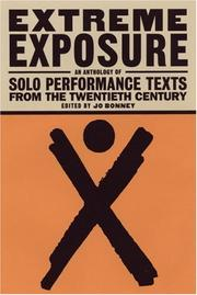 Cover of: Extreme exposure | edited by Jo Bonney.