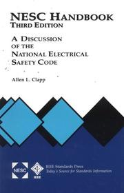 Cover of: National Electrical Safety Code Handbook | Allen L. Clapp