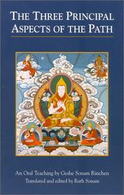 Cover of: The three principal aspects of the path