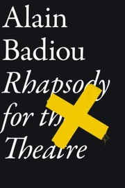 Cover of: Rhapsody for the Theatre