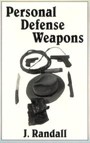 Cover of: Personal defense weapons | J. Randall