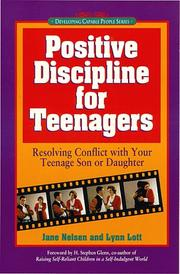 Cover of: Positive discipline for teenagers