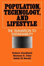 Cover of: Population, technology, and lifestyle