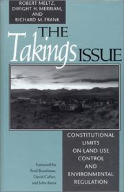Cover of: takings issue | Robert Meltz