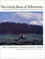 Cover of: The grizzly bears of Yellowstone
