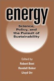 Cover of: Energy |