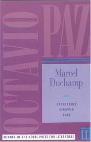 Cover of: Marcel Duchamp, appearance stripped bare
