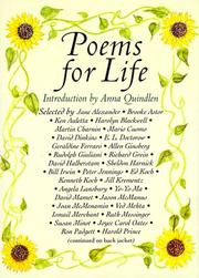 Cover of: Poems for life |