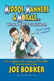 Cover of: Middos Manners  Morals with a Twist of Humor