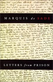 Cover of: Letters from prison | Marquis de Sade
