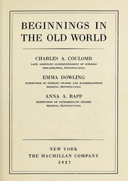 Cover of: Beginning in the old world