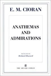 Cover of: Anathemas and admirations