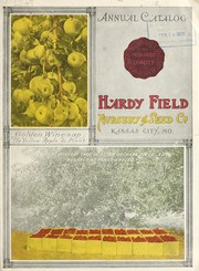 Cover of: Annual catalog | Hardy-Field Nursery & Seed Company