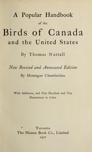 Cover of: A popular handbook of the birds of Canada and the United States
