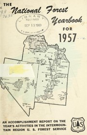 Cover of: The national forest yearbook for 1957
