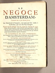 Cover of: Le negoce d'Amsterdam