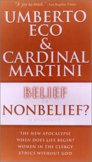 Cover of: Belief or Nonbelief?: A Dialogue