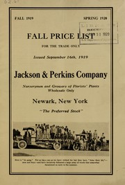 Cover of: Fall price list for the trade only