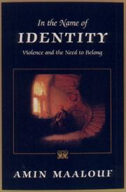 Cover of: In the Name of Identity | Amin Maalouf