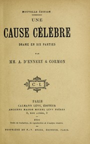 Cover of: Une cause ce le  bre