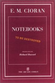 Cover of: Notebooks