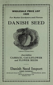 Cover of: Wholesale price list 1920 | Danish Seed Import