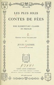 Cover of: Les plus jolis contes de fées for elementary classes in French