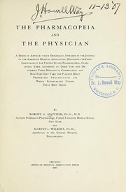 Cover of: The pharmacopeia and the physician | Robert A. Hatcher