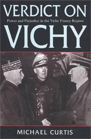 Verdict on Vichy by Michael Curtis