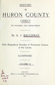 Cover of: History of Huron County, Ohio