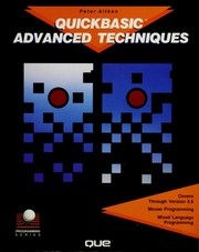 Cover of: QuickBASIC advanced techniques
