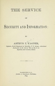 Cover of: The service of security and information