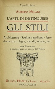 Cover of: L'arte di distinguere gli stili