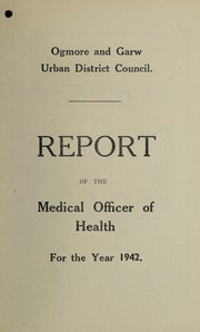 Cover of: [Report 1942] | Ogmore & Garw (Wales). Urban District Council