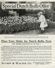Cover of: Special Dutch bulb offer | Stumpp & Walter Co. (New York, N.Y.)